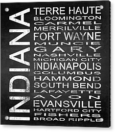 Subway Indiana State Square Acrylic Print by Melissa Smith