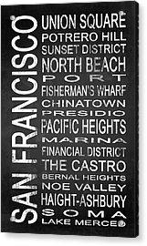 Subway San Francisco 3 Acrylic Print by Melissa Smith