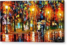 Sudden Sparks - Palette Knife Oil Painting On Canvas By Leonid Afremov Acrylic Print by Leonid Afremov