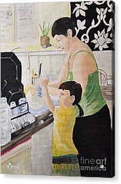 Sue And Loxy Acrylic Print by Reb Frost