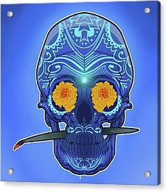 Sugar Skull Acrylic Print by Nelson Dedos Garcia