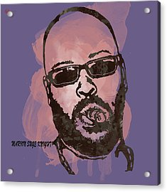 Suge Knight Pop Stylised Art Sketch Poster Acrylic Print by Kim Wang