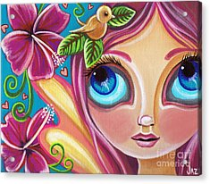 Summer Bliss Fairy Acrylic Print by Jaz Higgins