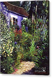 Summer Garden Acrylic Print by David Lloyd Glover