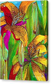Summer Lilies Acrylic Print by Claudia Smaletz