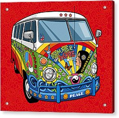 Summer Of Love Acrylic Print by Ron Magnes