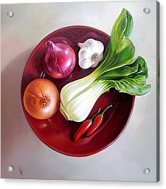 Summer Plate 2 Acrylic Print by Elena Kolotusha