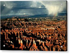Summer Storm At Bryce Canyon National Park Acrylic Print by Jetson Nguyen