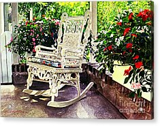 Summer Sun Porch Acrylic Print by David Lloyd Glover