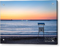 Summer Sunset Acrylic Print by Delphimages Photo Creations