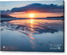 Summer Sunset Over Balnakeil Bay Acrylic Print by Janet Burdon