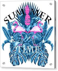 Summer Time Tropical  Acrylic Print by Mark Ashkenazi