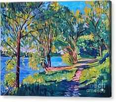 Summer's Lake Acrylic Print by David Lloyd Glover
