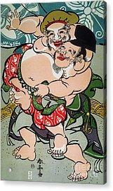 Sumo Wrestling Acrylic Print by Granger