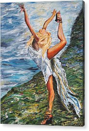 Sun Dancer Nastia Acrylic Print by Gregory Allen Page