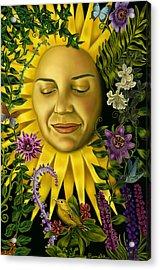 Sun Goddess Acrylic Print by Pamela Wells