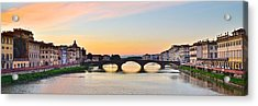 Sun Sets On Florence Acrylic Print by Frozen in Time Fine Art Photography