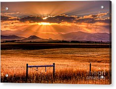 Sun Sets On Summer Acrylic Print by Katie LaSalle-Lowery