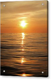 Sun Setting Over Calm Waters Acrylic Print by Nicklas Gustafsson