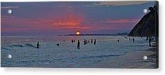 Sun Setting Over Goleta Acrylic Print by John Pierpont
