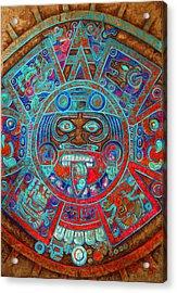 Sun Stone Acrylic Print by Jose Espinoza