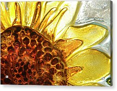Sunburst Sunflower Acrylic Print by Jerry McElroy