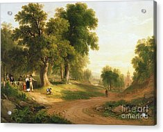 Sunday Morning Acrylic Print by Asher Brown Durand