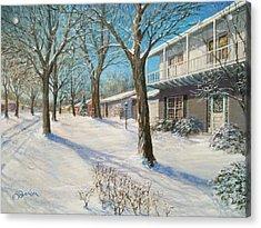 Sunday Morning Snow Acrylic Print by Edward Farber