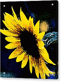 Sunflower Art  Acrylic Print by Juls Adams