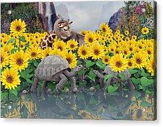 Sunflower Daydream  Acrylic Print by Betsy C Knapp