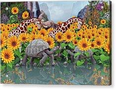 Sunflower Daydream II Acrylic Print by Betsy C Knapp