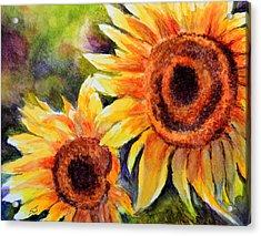 Sunflowers 2 Acrylic Print by Susan Jenkins