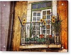 Sunflowers In The City Acrylic Print by Carol Japp
