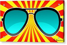 Sunglasses Craze Acrylic Print by Saverio Ganino