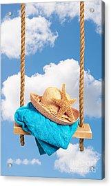 Sunhat On Swing Acrylic Print by Amanda Elwell