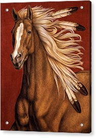 Sunhorse Acrylic Print by Pat Erickson