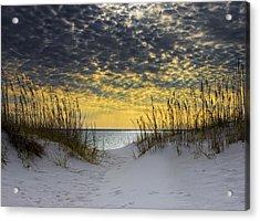 Sunlit Passage Acrylic Print by Janet Fikar