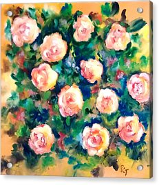 Sunlit Summer Roses Acrylic Print by Patricia Taylor