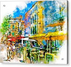 Sunny Day In Arles Acrylic Print by Douglas J Fisher