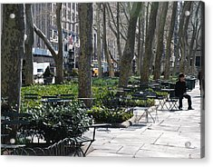 Sunny Morning In The Park Acrylic Print by Rob Hans