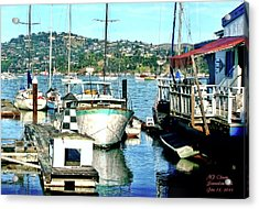 Sunny Sausalito Acrylic Print by Michael Cleere