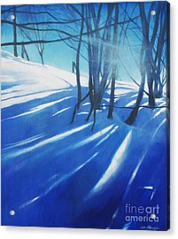 Sunny Traintrip To Hamar Acrylic Print by Lin Petershagen