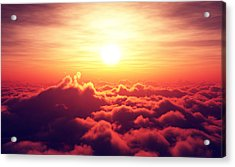 Sunrise Above The Clouds Acrylic Print by Johan Swanepoel