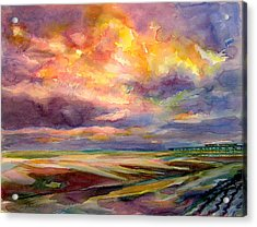 Sunrise And Tide Pool Acrylic Print by Julianne Felton