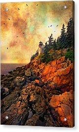 Sunrise At Bass Harbor Head Light - Acadia National Park - Maine Acrylic Print by Joann Vitali