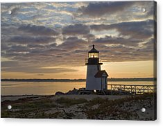 Sunrise At Brant Point Nantucket Acrylic Print by Henry Krauzyk