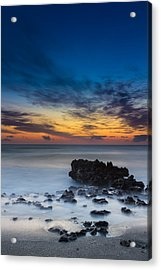 Sunrise At Coral Cove Park In Jupiter Vertical Acrylic Print by Andres Leon