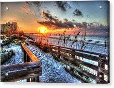 Sunrise At Cotton Bayou  Acrylic Print by Michael Thomas