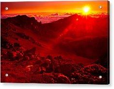 Sunrise Haleakala Acrylic Print by Harry Spitz
