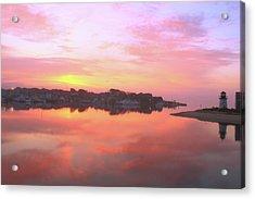 Sunrise Hyannis Harbor Acrylic Print by Roupen  Baker